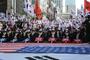 친박단체들 대구 반월당에서 대규모 집회