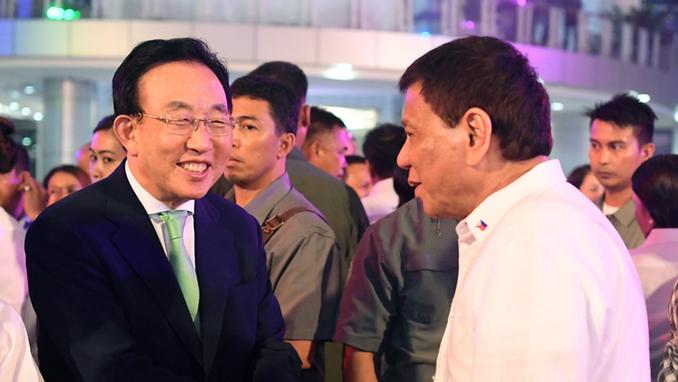 김관용 지사, 필리핀 두테르테 대통령과  경제협력 논의