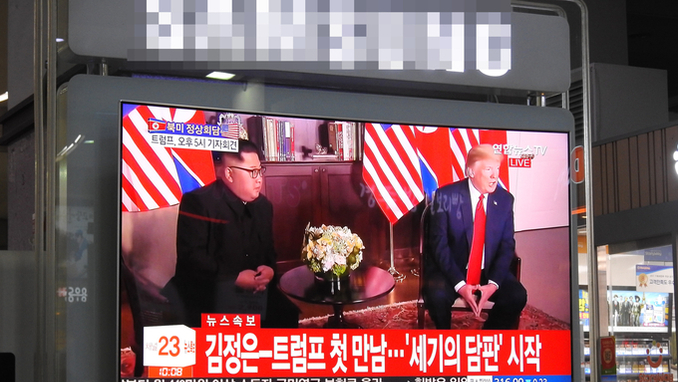 김정은 VS 트럼프 정상회담 전세계가 주목